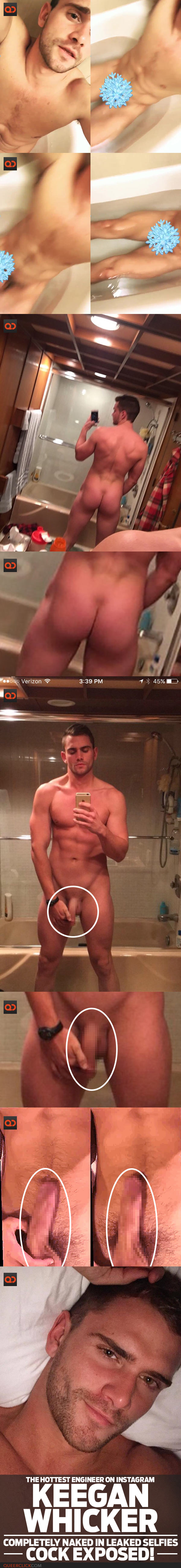 Keegan Whicker, The Hottest Engineer On Instagram, Completely Naked In Leaked Selfie - Cock Exposed!