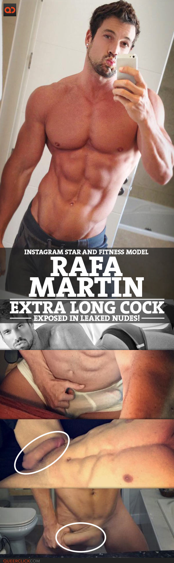 Rafa Martín, Instagram Star And Fitness Model, Extra Long Cock Exposed In Leaked Nudes!