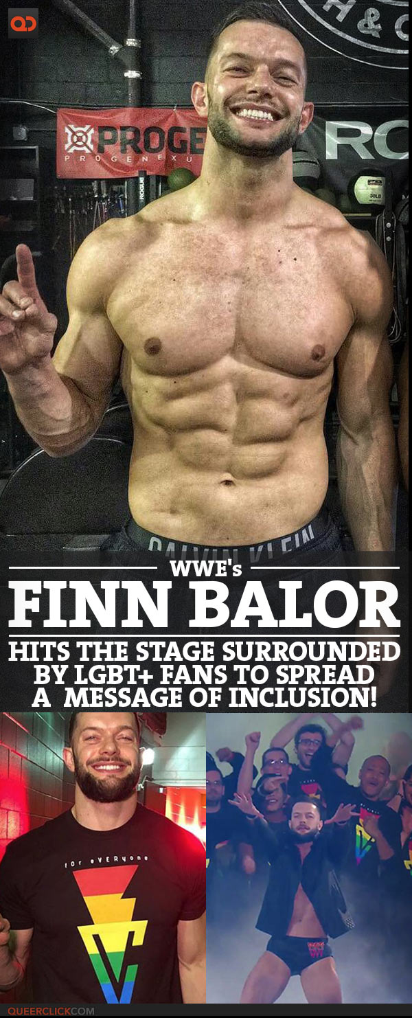 WWE's Finn Bàlor Hits The Stage Surrounded By LGBT+ Fans To Spread A Message Of Inclusion - Honest Effort Or Publicity Stunt?