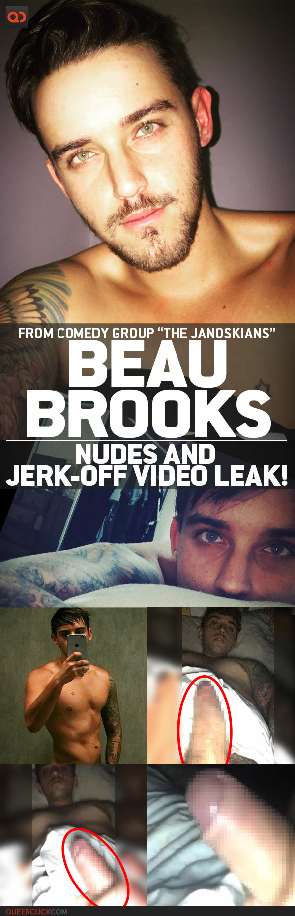"Beau Brooks, From Comedy Group ""The Janoskians"", Nudes And Jerk-Off Video Leak!"