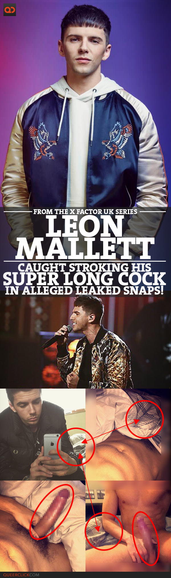 Leon Mallett, From The X Factor UK Series 14, Caught Stroking His Super Long Cock In Alleged Leaked Videos and Snaps!