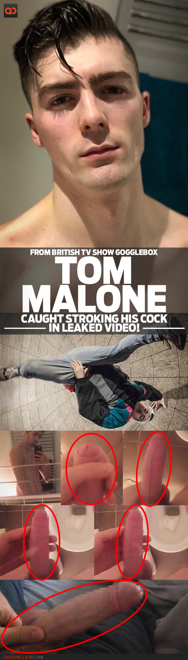Tom Malone, From British TV Show Gogglebox, Caught Stroking His Cock In Leaked Video!
