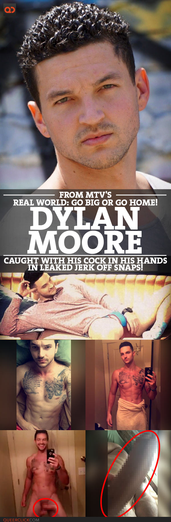 Dylan Moore, From MTV's Real World Go Big Or Go Home, Caught With His Cock In His Hands In Leaked Jerk Off Snaps!