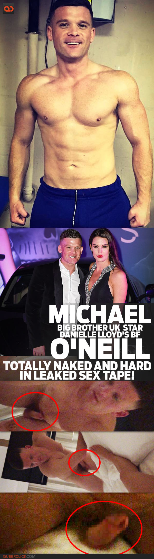 Michael O'Neill, Big Brother Star Danielle Lloyd's BF, Totally Naked And Hard In Leaked Sex Tape!