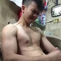 This Cute Boy Works  Hard To Get a  Satisfying Climax!