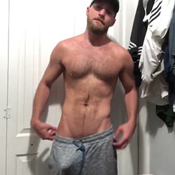 Horny Guy In Gray Sweatpants Gets A Bit Naughty!