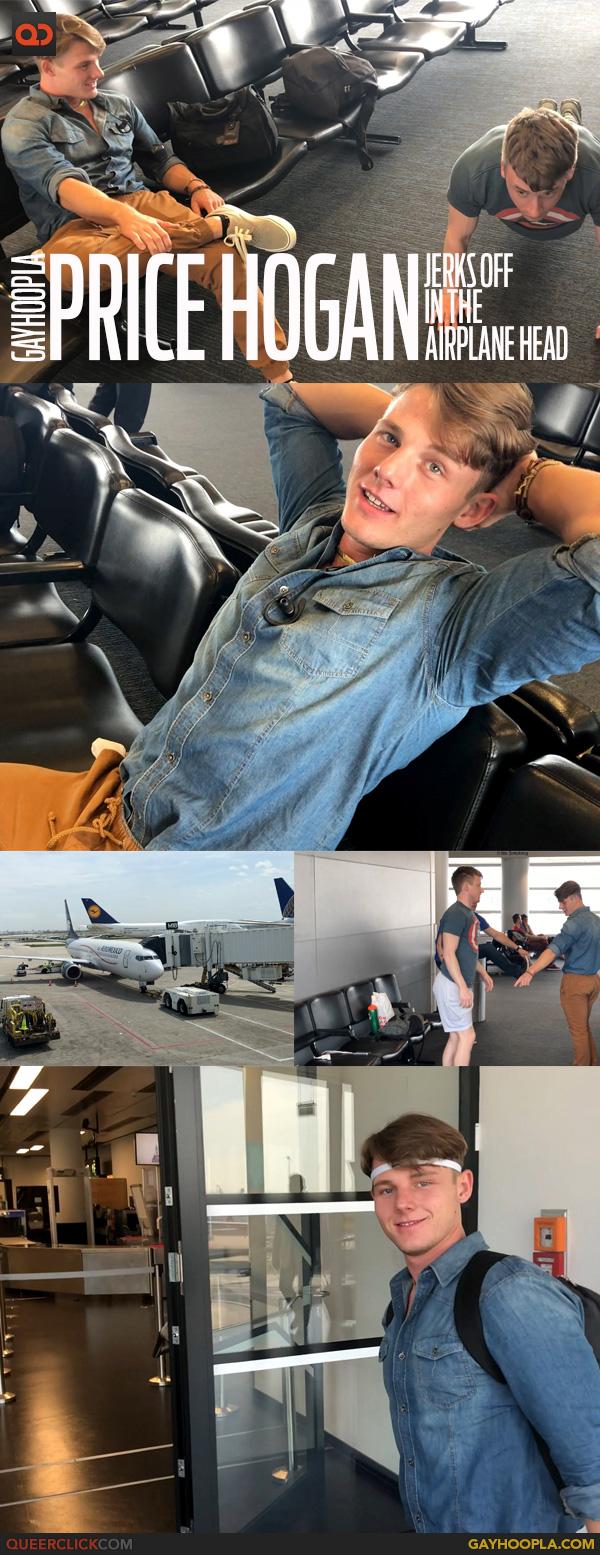 Gayhoopla: Price Hogan Jerks off the the Airplane Bathroom