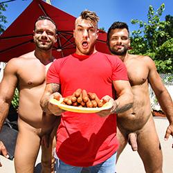 Men.com:  Darcy Oak, Jeremy Spark and William Seed