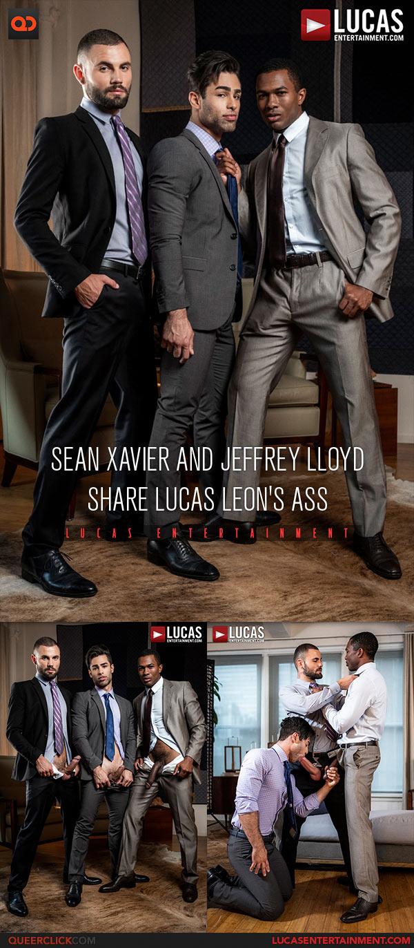 Lucas Entertainment: Sean Xavier and Jeffrey Lloyd Fuck Lucas Leon Bareback