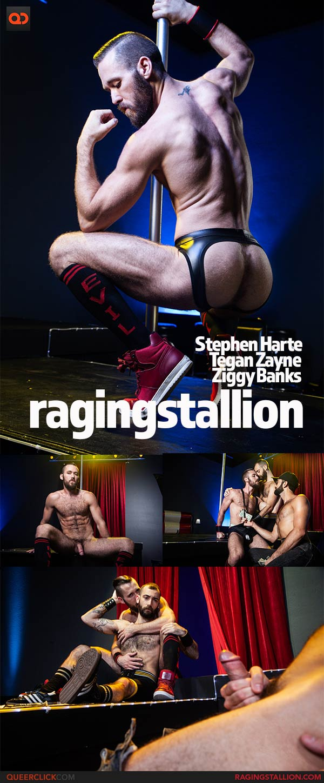 Raging Stallion:  Tegan Zayne, Ziggy Banks and Stephen Harte