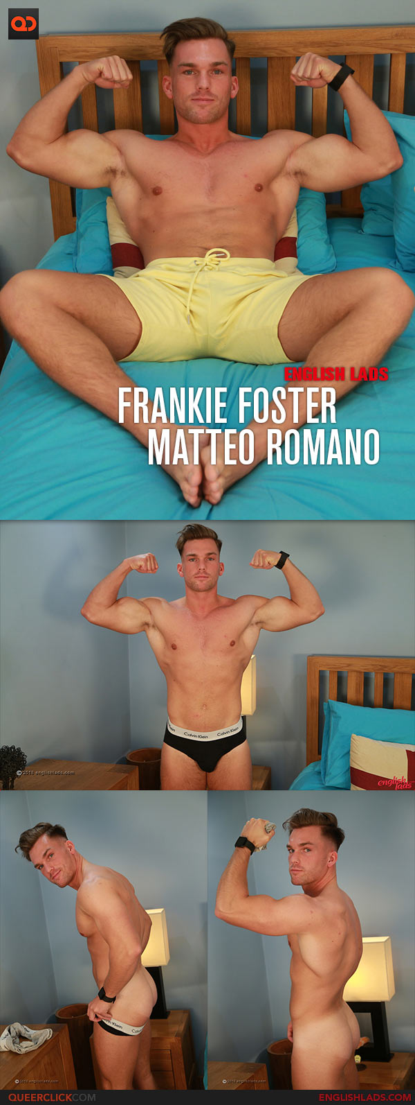 English Lads: Muscular Hunk Frankie Foster Serviced by Matteo Romano