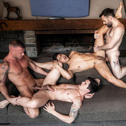 Lucas Entertainment: Logan Rogue and Max Arion Fuck Dakota Payne and Ken Summers – Bareback