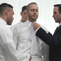 Missionary Boys: President Lewis, Elder Ence, President Skye and Bishop Manwaring