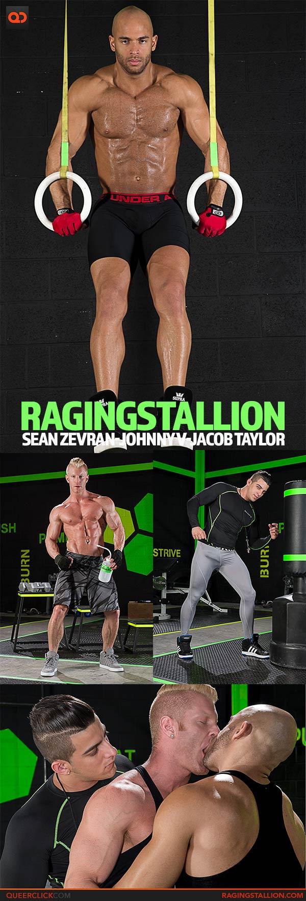 Raging Stallion:  Sean Zevran, Johnny V and Jacob Taylor
