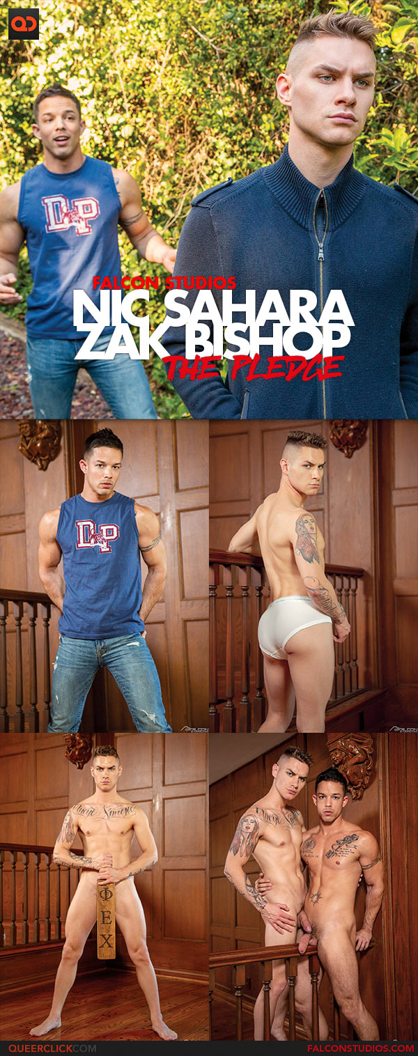 Falcon Studios: Nic Sahara Fucks Zak Bishop - Bareback