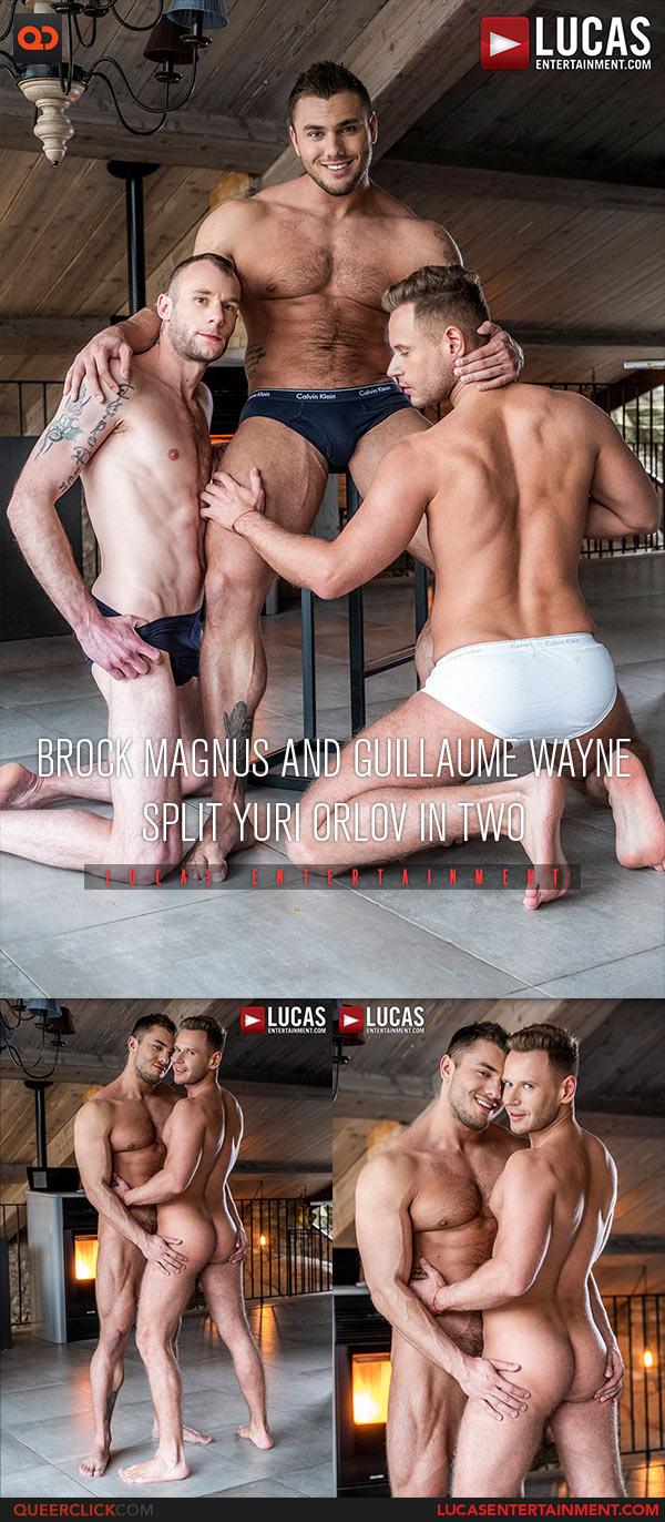 Lucas Entertainment: Brock Magnus, Guillaume Wayne and Yuri Orlov - Bareback Threesome