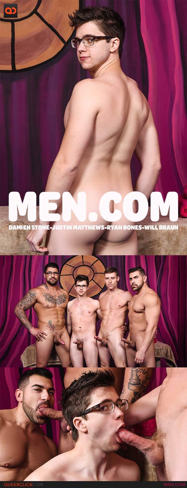 Men.com:  Damien Stone, Justin Matthews, Ryan Bones and Will Braun