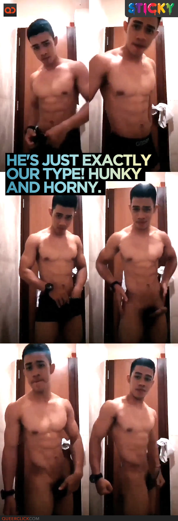 He's Just Exactly Our Type! Hunky and Horny.