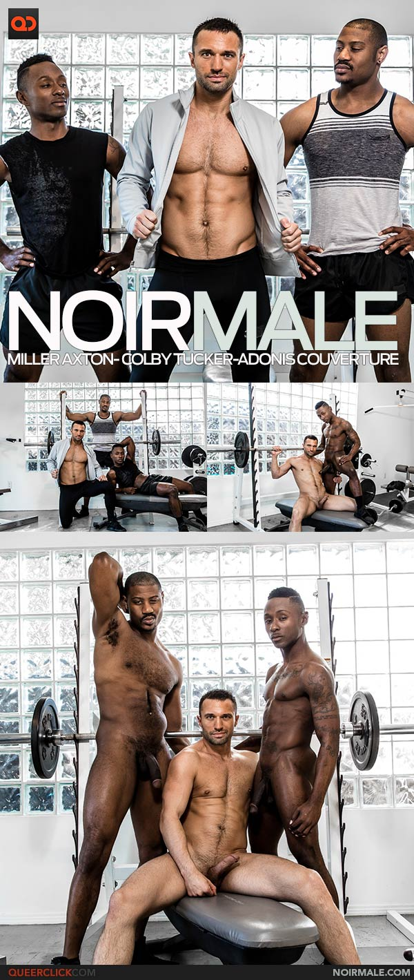 Noir Male: Miller Axton, Colby Tucker and Adonis Couverture