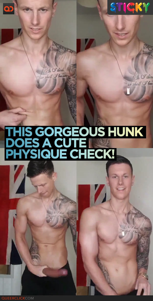 This Gorgeous Hunk Does A Cute Physique Check!