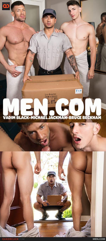 Men.com: Vadim Black, Michael Jackman and Bruce Beckham