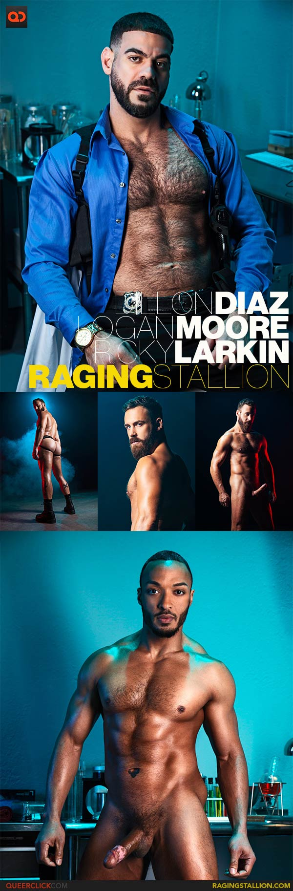 Raging Stallion: Ricky Larkin, Logan Moore and Dillon Diaz