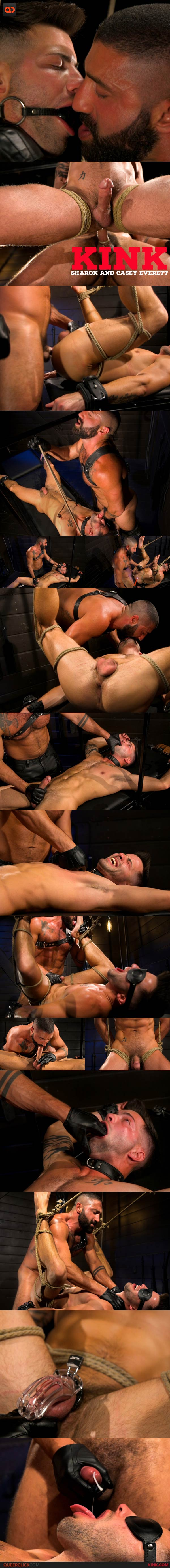 Kink: Casey Everett Worships New Leather-Clad Master