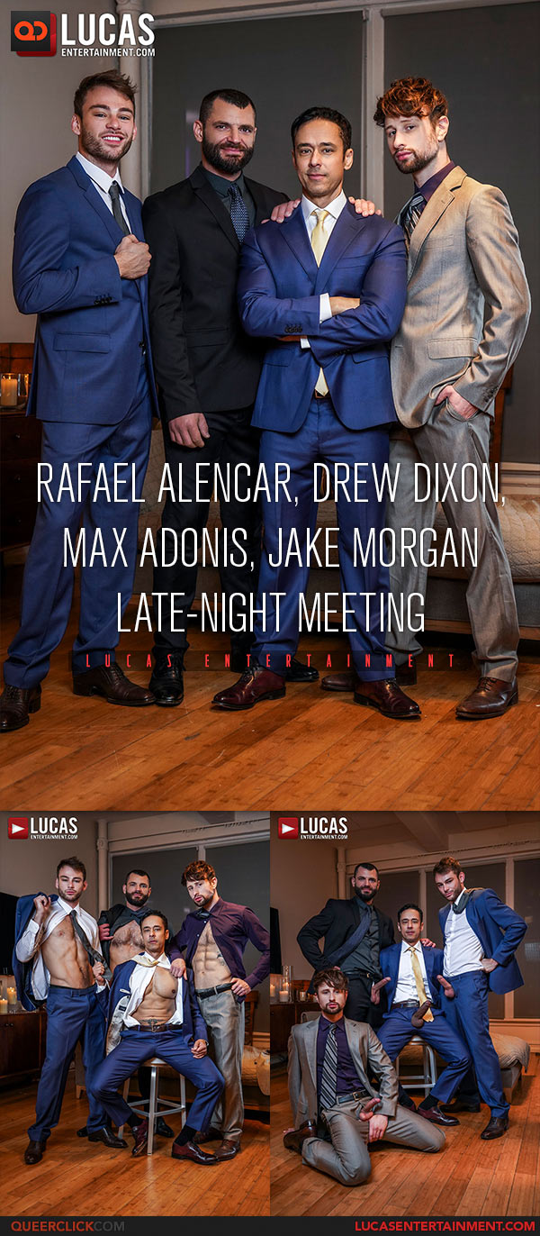 Lucas Entertainment: Jake Morgan, Drew Dixon, Rafael Alencar and Max Adonis - Bareback Foursome