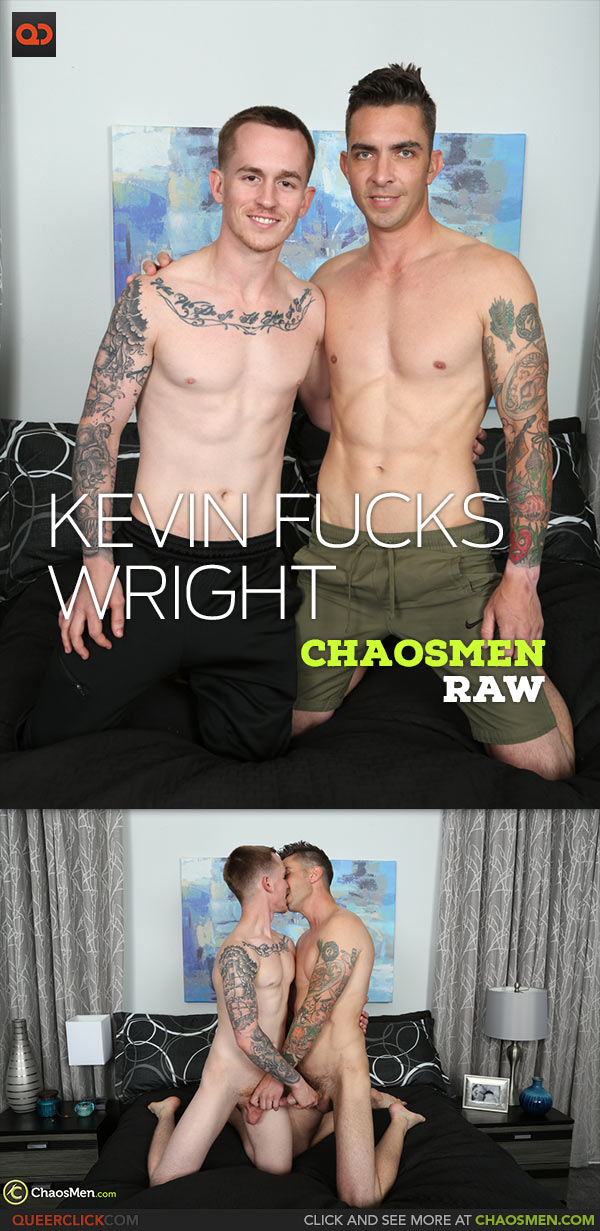ChaosMen: Kevin Texas Fucks Wright - Bareback