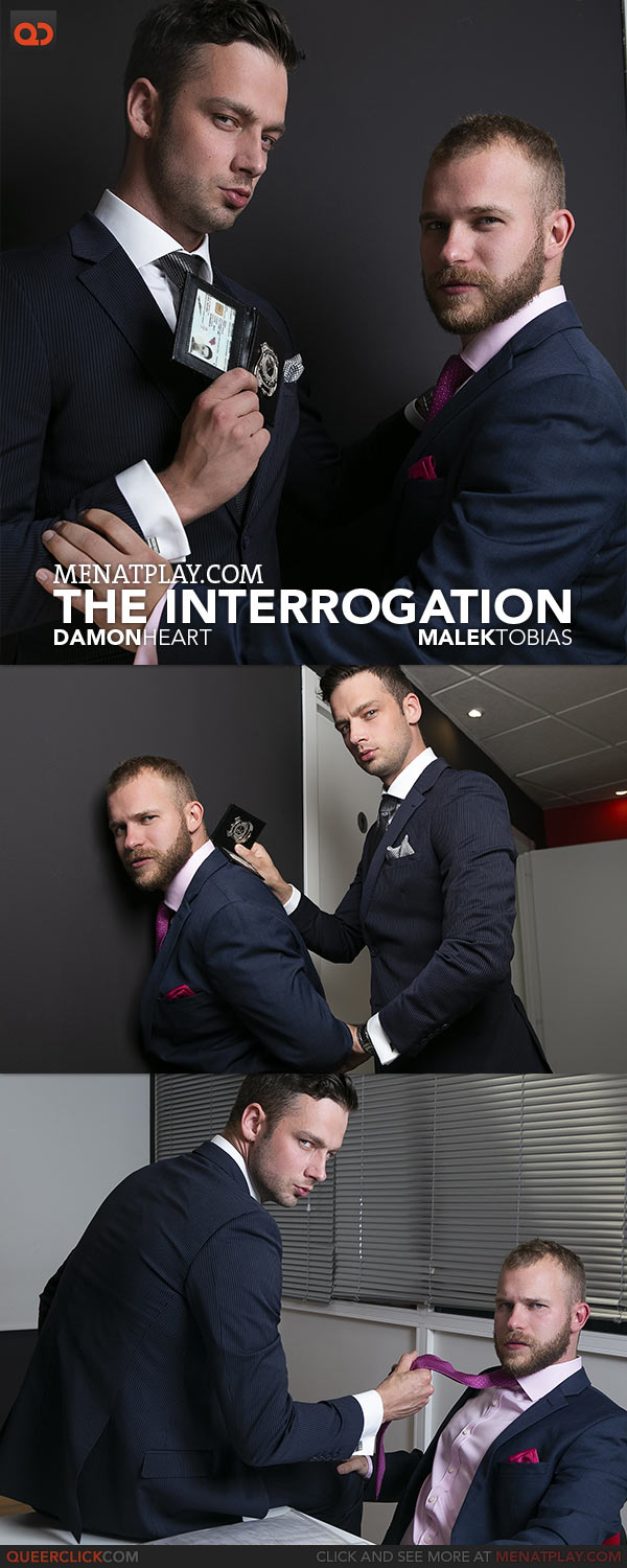 MENatPLAY: Damon Heart Fucks Malek Tobias in 'The Interrogation'
