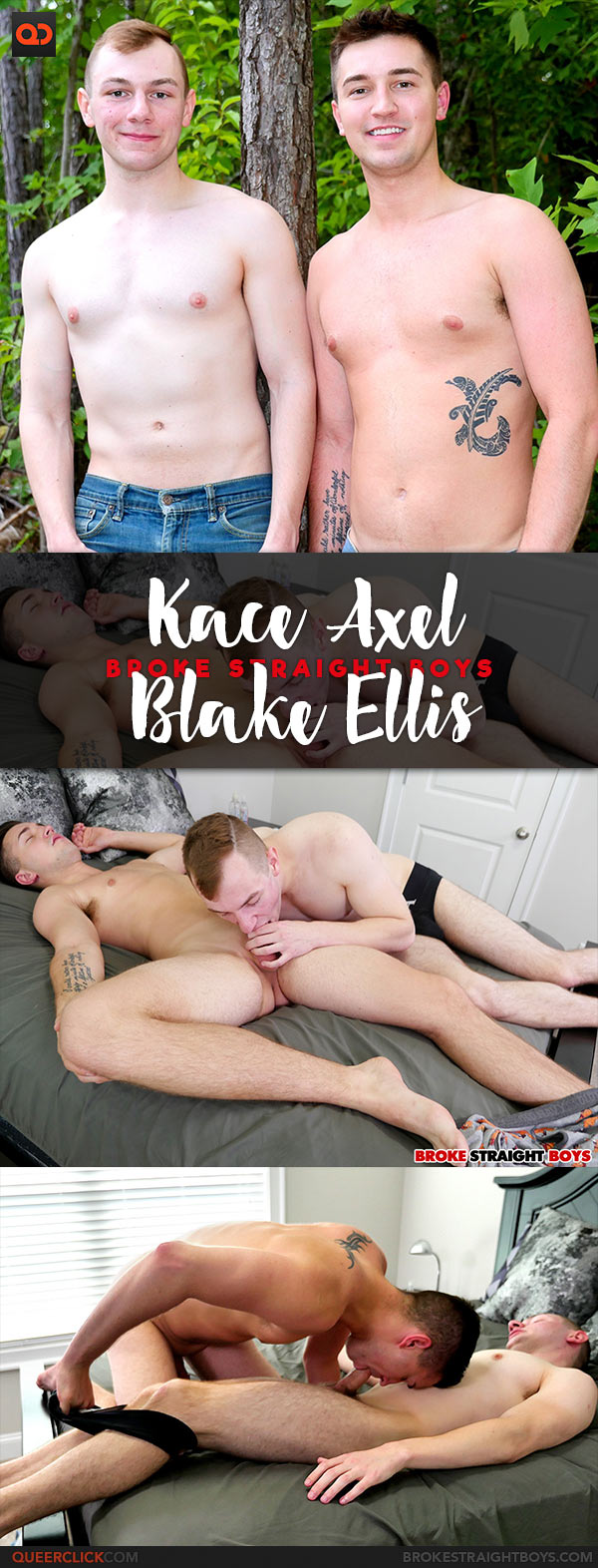 Broke Straight Boys: Kace Axel Fucks Blake Ellis - Bareback