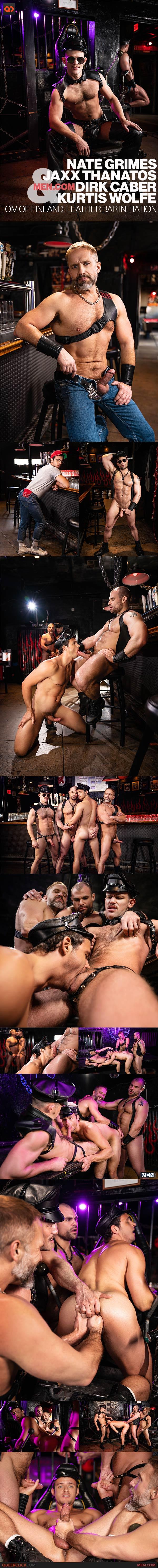Men.com: Nate Grimes, Jaxx Thanatos, Dirk Caber and Kurtis Wolfe