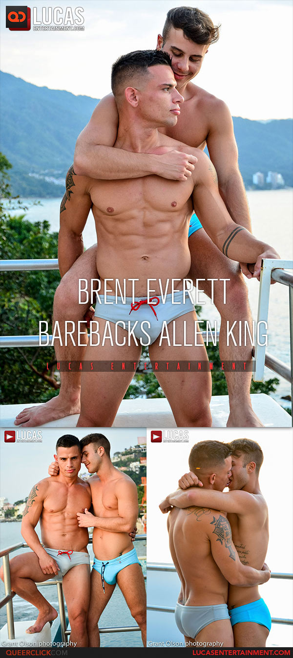 Allen King Porno Gay lucas entertainment: brent everett fucks allen king bareback