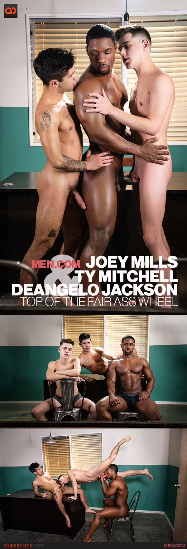 Men.com: DeAngelo Jackson, Ty Mitchell and Joey Mills- Top Of The Fair Ass Wheel