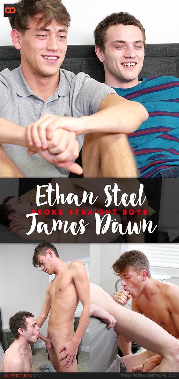 Broke Straight Boys: Ethan Steel Fucks James Dawn - Bareback