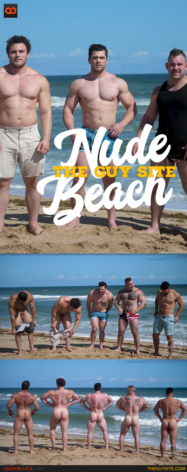 Muscle Men Nude Beach 2 Cover