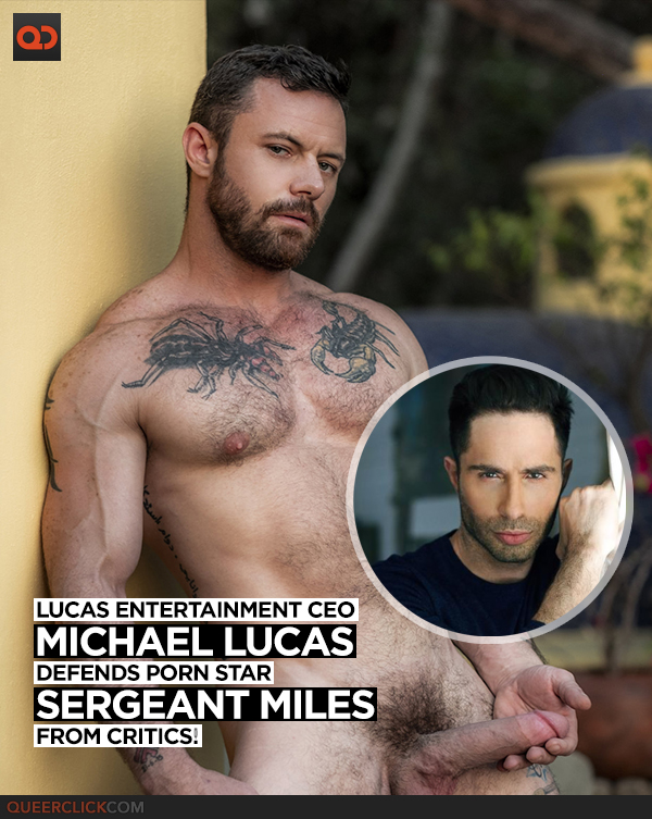Lucas Entertainment CEO Defends Porn Star Sergeant Miles from Critics!