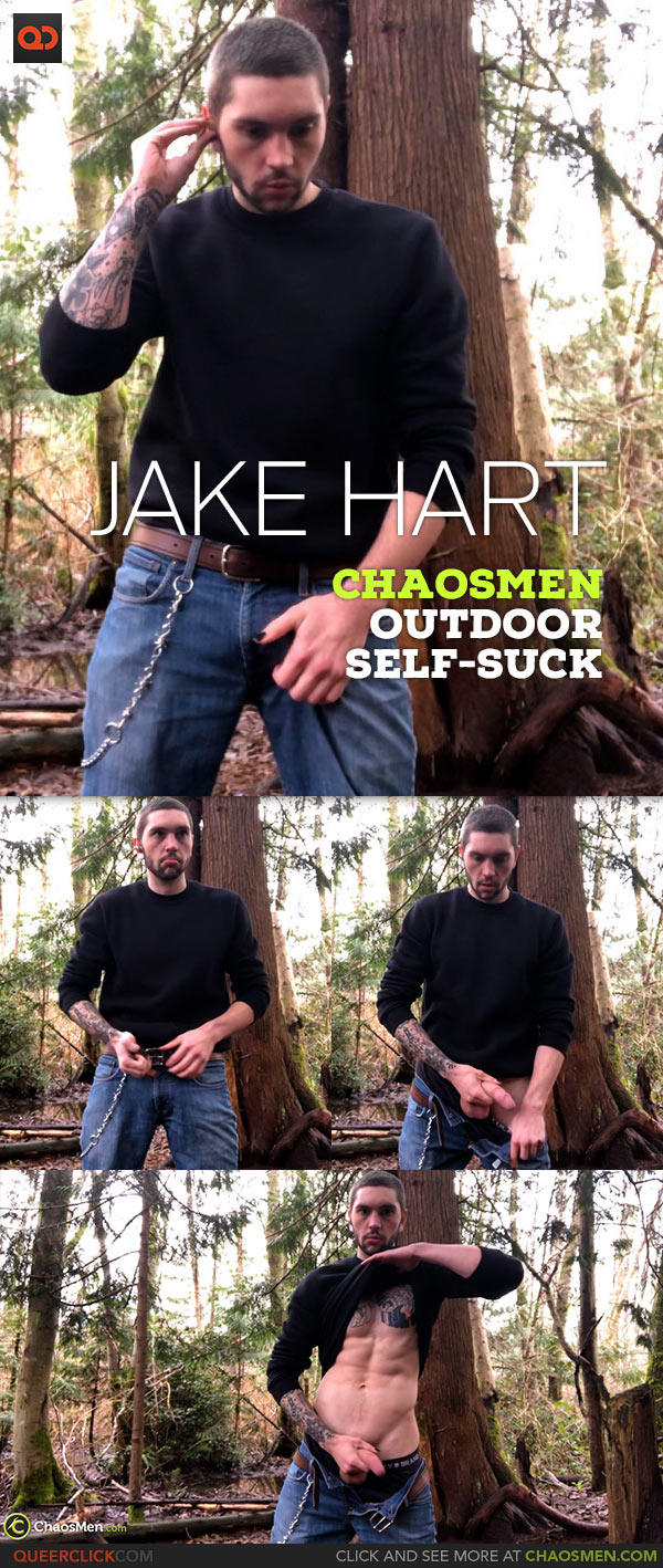 ChaosMen: Jake Hart - Outdoor Self-Suck Peep