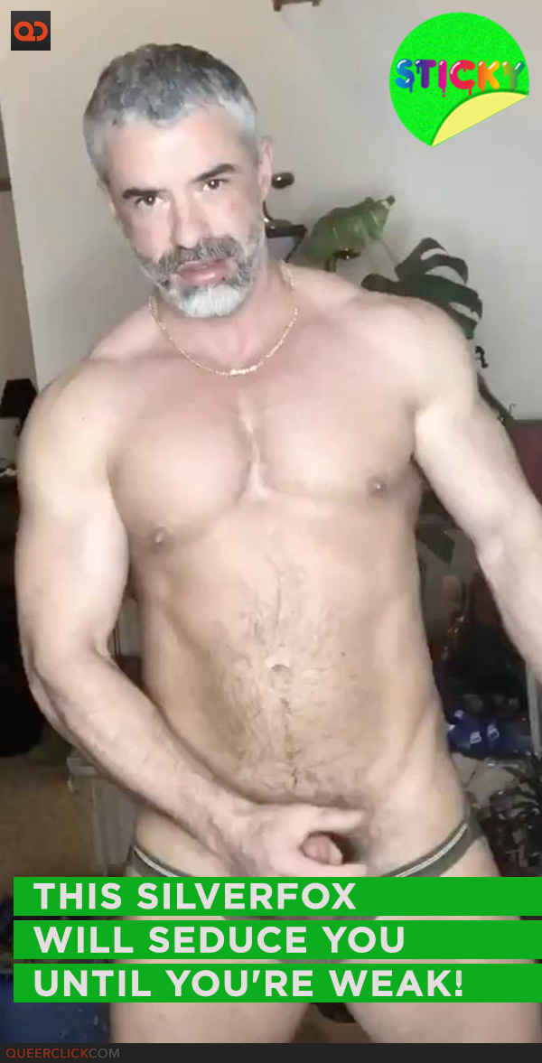 This Silverfox Will Seduce You Until You're Weak!