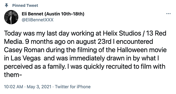 A Timeline of the Whole Eli Bennet and Jordan Lake vs Helix Studios Issue