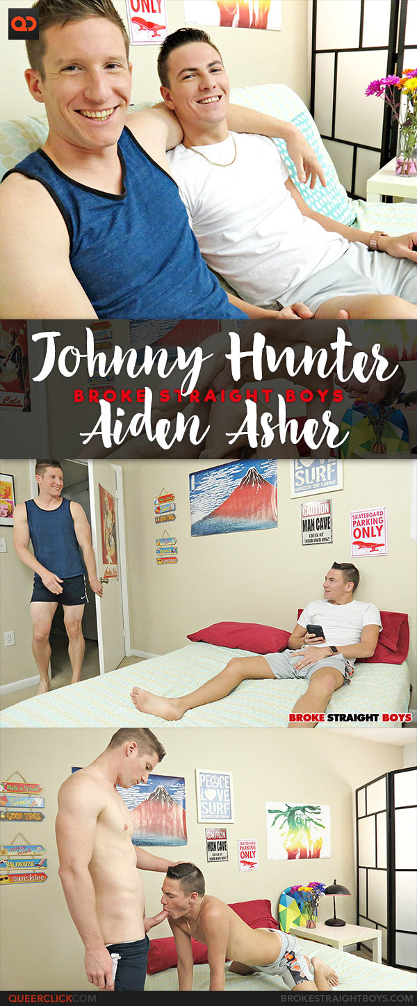 Broke Straight Boys: Aiden Asher Fucks Johnny Hunter - Bareback
