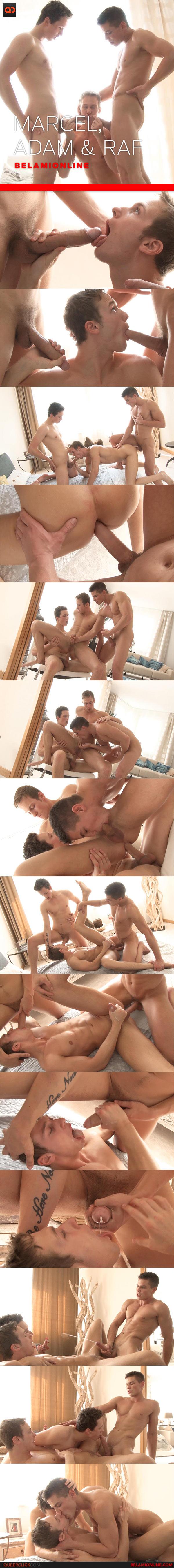 BelAmi Online: Adam Archuleta, Raf Koons and Marcel Gassion - Bareback Threesome