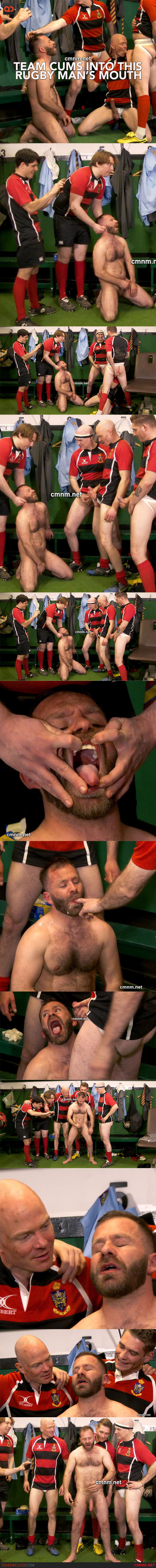Team Cums Into This Rugby Man's Mouth at CMNM.net