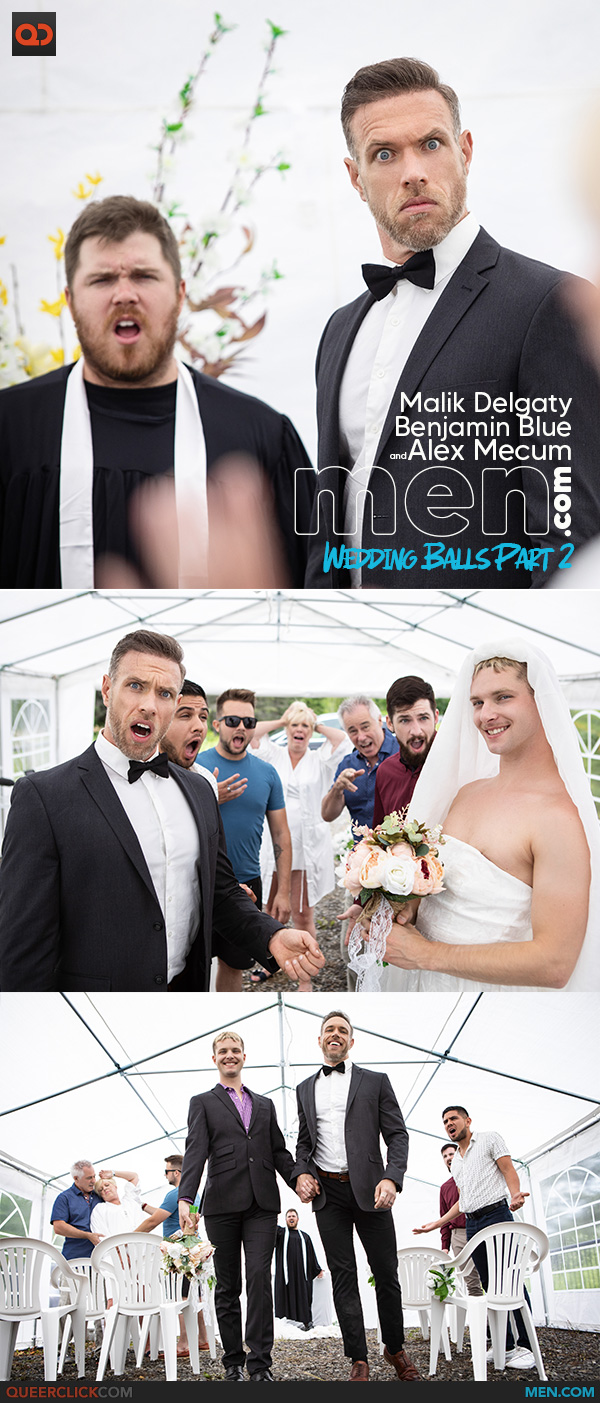 Men.com: Alex Mecum, Benjamin Blue and Malik Delgaty - Wedding Balls Part 2